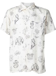 Rrl Sailor Print Shirt White