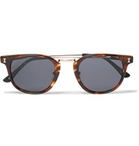 Illesteva Tribeca Ii D Frame Acetate And Gold Tone Sunglasses Brown