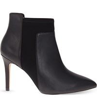 Reiss Leander Leather Ankle Boots Black