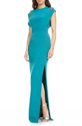 Theia Women's Embellished Silk Gown