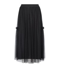 Claudie Pierlot Sonate Mid Length Net Skirt Female Black