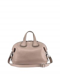 Givenchy Nightingale Small Waxy Leather Satchel Bag Mastic