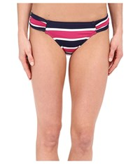 Tommy Bahama Nautical Side Shirred Hipster Mare Navy Women's Swimwear