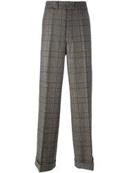 Junya Watanabe Comme Des Garcons Man Plaid Loose Fit Trousers Brown