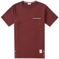 Thom Browne Jersey Pocket Tee Red