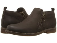 Hush Puppies Mazin Cayto Dark Brown Nubuck Women's Zip Boots