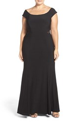 Xscape Evenings Plus Size Women's Off The Shoulder A Line Gown