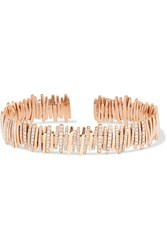 Suzanne Kalan 18 Karat Rose Gold Diamond Cuff