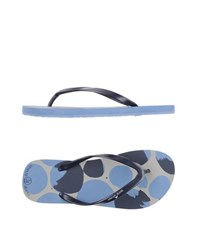 Armani Jeans Footwear Thong Sandals Women Dark Blue