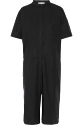 Studio Nicholson Ryo Oversized Cotton Blend Poplin Jumpsuit Black