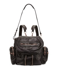 Alexander Wang Marti Zip Trim Leather Backpack Black