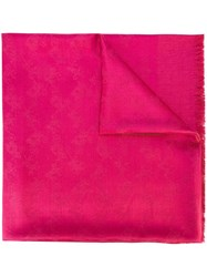 Coach Jacquard Scarf Pink And Purple