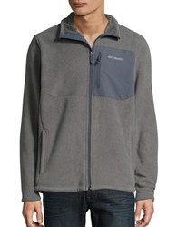 Columbia Sherpa Lined Fleece Zip Up Charcoal