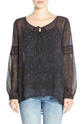 Sun And Shadow Boho Blouse Black
