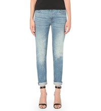 Alexander Wang Wang 002 Relaxed Fit Low Rise Jeans Light Indigo Aged
