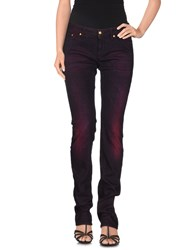 Love Moschino Denim Denim Trousers Women Deep Purple