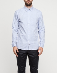 Apolis Washed Oxford Button Down In Light Blue