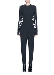 Haider Ackermann Cutout Ruffle Side Jumpsuit Black