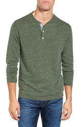 Faherty Men's Long Sleeve Henley Hunter Green