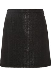 A.P.C. Atelier De Production Et De Creation Ada Metallic Jacquard Mini Skirt Black