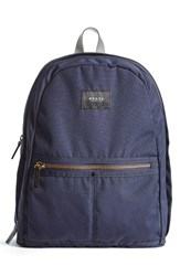 State Bags Men's State 'Union' Water Resistant Backpack With Leather Trim Blue Navy