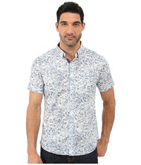 7 Diamonds Kahuna Short Sleeve Shirt Light Blue Men's Short Sleeve Button Up