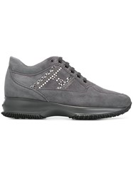 Hogan Panelled Sneakers Grey