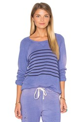 Sundry Raglan Striped Sweatshirt Purple