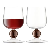 Lsa International Oro Red Wine Glass Set Of 2 Copper