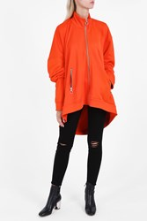 Marques Almeida Women S Zip Up Oversize Top Boutique1 Orange