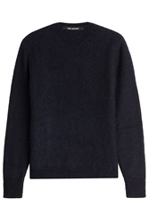 Neil Barrett Pullover With Wool And Mohair Blue