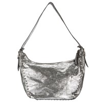 John Lewis Collection Weekend By Memphis Leather Stud Hobo Bag Silver