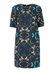 Pied A Terre Crepe Shift Dress Multi Coloured