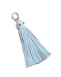 Etienne Aigner Long Pebbled Tassel Key Fob Sky Blue