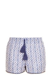 Talitha Iznik Printed Shorts Blue