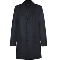 A.P.C. Double Faced Wool Blend Overcoat Blue