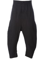 Lost And Found Ria Dunn Drop Crotch Loose Fit 'Flight' Trousers Black