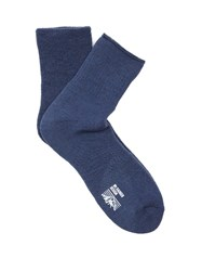 Mt. Rainier Design Reversible Socks Blue