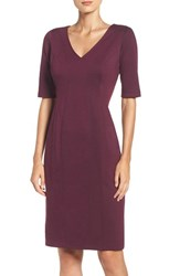 Gabby Skye Women's Seamed Ponte Sheath Dress