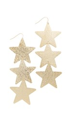 Adia Kibur Ivy Star Earrings Gold