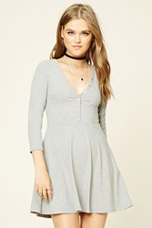 Forever 21 Snap Button Skater Dress