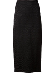 Sid Neigum Geometric Pattern Jacquard Skirt Black
