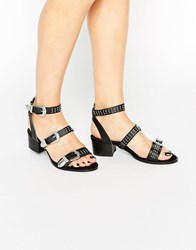 Asos Talas Western Sandals Black