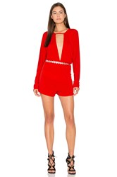 Motel Tonya Romper Red