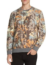 Sol Angeles Camo And Floral Print Sweatshirt Camo Floral