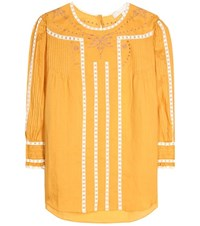Vanessa Bruno Lace Trimmed Blouse Yellow