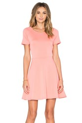 Eight Sixty Scuba Cap Sleeve Fit And Flare Dress Coral