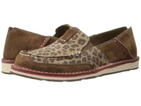 Ariat Cruiser Dark Earth Cheetah Women's Slip On Shoes Brown