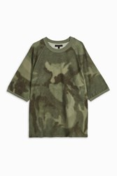 Yeezy Men S Raglan Camo T Shirt Boutique1 Khaki