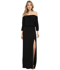 Culture Phit Lily Off The Shoulder Maxi Dress With Slit Black Women's Dress